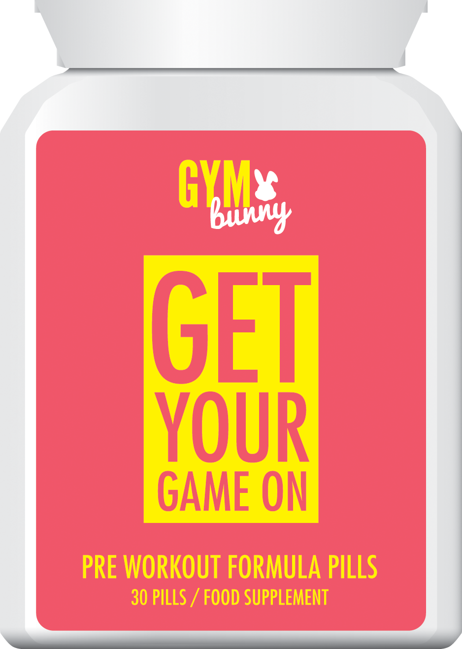 GYM BUNNY GET YOUR GAME ON PRE WORKOUT FORMULA PILLS